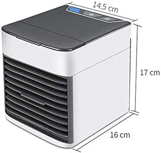 QUETAZHI-aire acondicionado, Refrigerado por agua en el hogar enfriador nueva generación de nuevo mini ventilador eléctrico del ventilador USB Mini ventilador de aire acondicionado del hogar ventilado: Amazon.es: Hogar