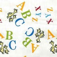 Trend Lab Print Flannel Crib Sheet, Dr. Seuss ABC