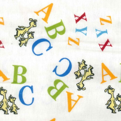 Trend Lab Print Flannel Crib Sheet, Dr. Seuss