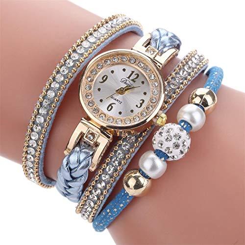 Idomeo Women Casual Round Shape Hasp Buckle Quartz Bracelet Wristwatch Fashion Scarves