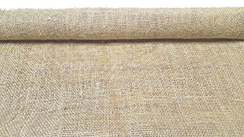 AAYU Burlap Fabric, Disposable Jute Planter Liner | Rolls 36 inch X 8 Yards Biodegradable Garden Fabric Weed Barrier Heavy (7oz) Landscape Edging Window ()