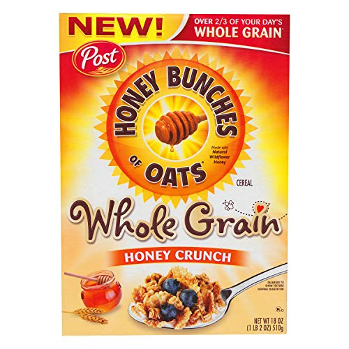 Post Honey Bunches of Oats Whole Grain Honey Crunch, 18 oz.