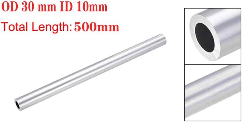 Length 500Mm OD 30 Mm ID 10Mm Inner Diameter Seamless Aluminum Round Tube 1Pc OLJF Aluminum Tube