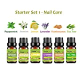 Essential Oils,Top 6 10ML Pure Aromatherapy Oils Set Lemon, Jasmine,Lavender,Peppermint,Frankincense,Tea Tree Oils