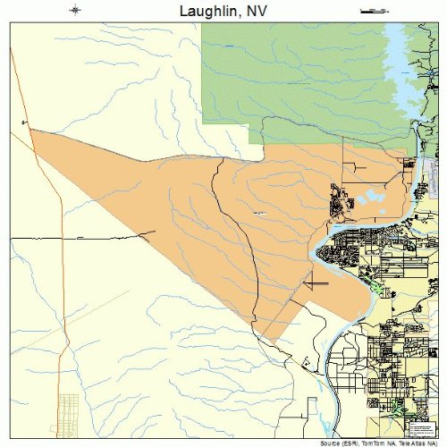 Large Street & Road Map of Laughlin, Nevada NV - Printed poster size wall atlas of your home town (Map Laughlin Nevada)