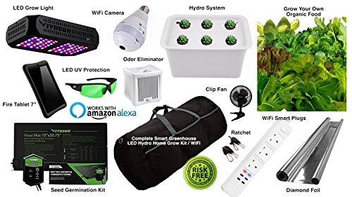 Smart Grow kit LED Hydroponics for Home Closet complete setup