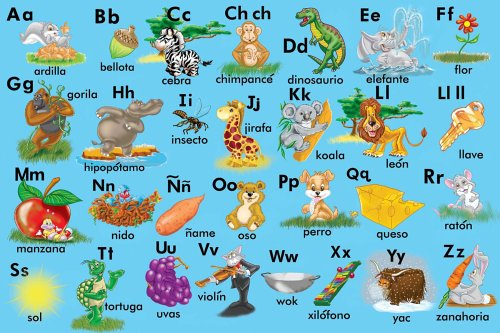 Amazon.com: Spanish Alphabet Floor Puzzle: Toys & Games