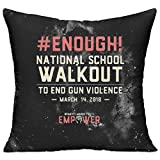 miaomiao School Walkout March For Our Lives 18x18 Inch Throw Pillow Home Decor Pillow Standard Form Insert With Interior Inner