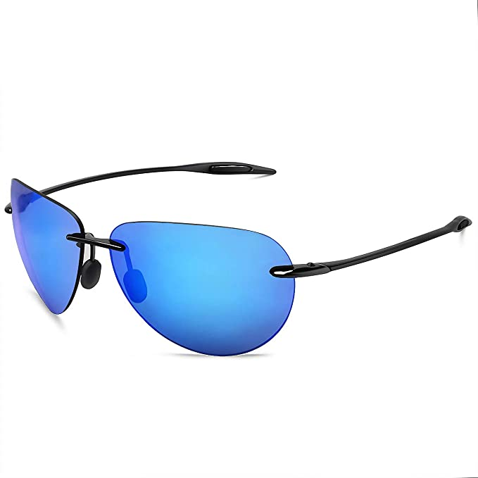e41924a619 Image Unavailable. Image not available for. Color  JULI Sports Sunglasses  for Men Women Tr90 Rimless Frame for Running Fishing Golf Surf Driving  Cycling