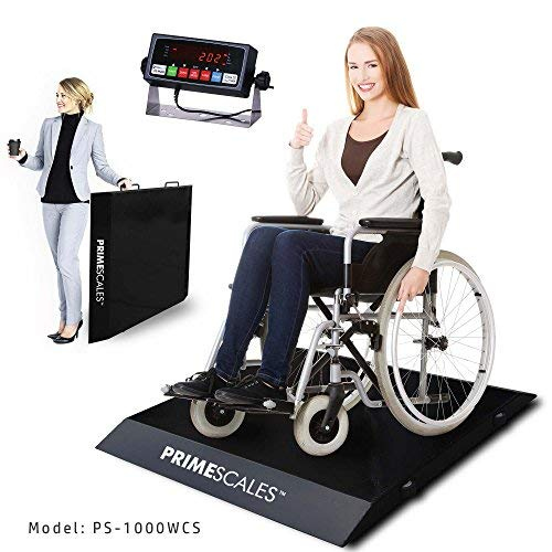 Prime Scales PS-1000WCS Ultra-Portable Light Weight Wheel Chair Scale