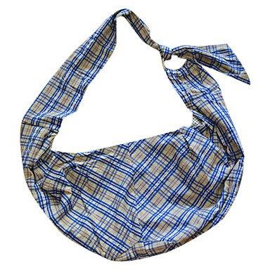 Quick shopping Brown Grids Pattern Single Shoulder Slope Pack Bag Carrier for Pets Dogs