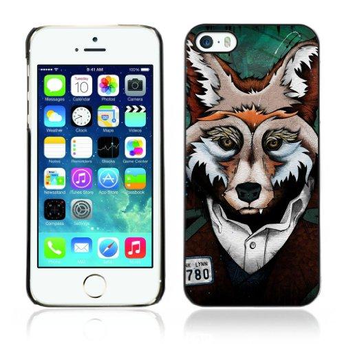 Designer Depo Etui de protection rigide pour Apple iPhone 5 5S / Clever Fox Mug Shot Art