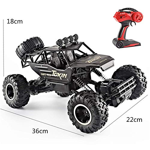 Car Control Remote Gas Nitro (Luxrmoon RC Car RC Truck Rock Crawlers 4WD 4 Channel 2.4G On-Road / Rock Climbing Car / Off Road Car 1:12 Brushless Electric 12 km/h Waterproof / Flashlight / Shockproof (Red))