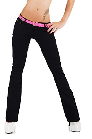 71bcd43cf61 SIMPLY CHIC Womens Ladies Classic Black Bootcut Jeans Sizes UK 6 8 10 12 14  (
