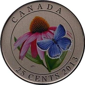 Amazon.de: 2013 Kanada 25 Cent Farbige Medaille Violett Echinacea ...