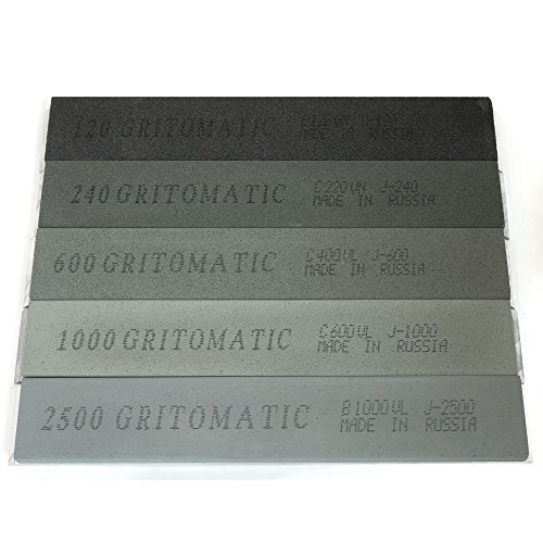 Gritomatic Silicon Carbide 5 Stone Set for Edge Pro (Set 220 Stone Grit)