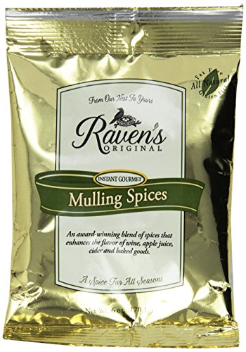 Hot Mulled Cider - Raven's Original Mulling Apple Cider Spices - 6 Oz Package (Pack of 3)