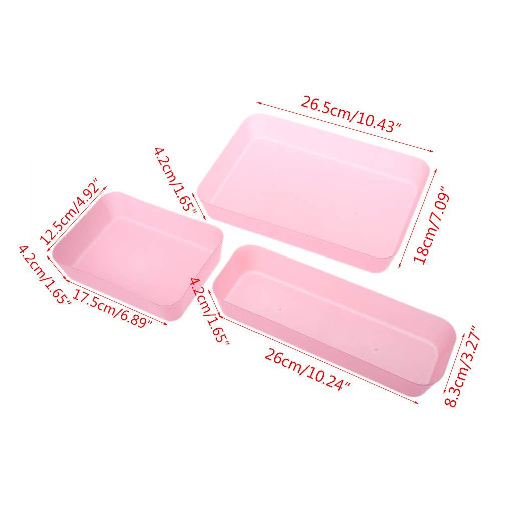 JUNESUN Drawer Kitchen Cutlery Tableware Case Makeup Storage Box Home Organizer Plastic by JUNESUN (Image #8)