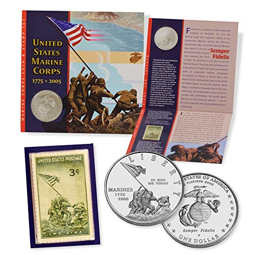2005 Marine Corps Coin /& Stamp Set