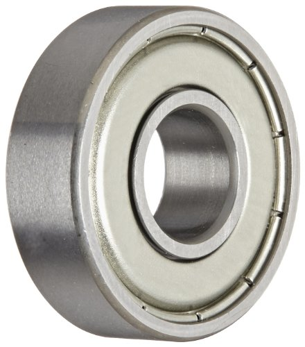 NSK 6000Z Deep Groove Ball Bearing, Single Row, Single Shield, Pressed Steel Cage, Normal Clearance, Metric, 10mm Bore, 26mm OD, 8mm Width, 30000rpm Maximum Rotational Speed, 1970N Static Load Capacity, -