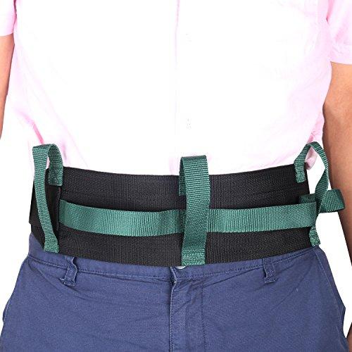 GUOER Transfer Walking Gait Belt with 4 Vertical Handles 3 Transverse Handles Gait Belt One Size Multi-Color (Color 011)