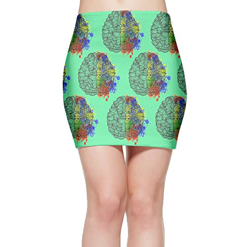 SKIRTS WWE Geek Brain Womens Package Hip High Waisted Mini Short Skirt by SKIRTS WWE