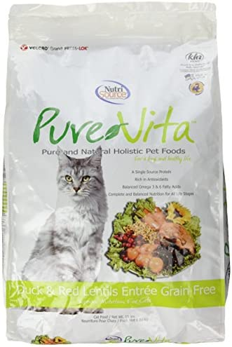 Purevita Grain Free Duck Cat Food 15Lb