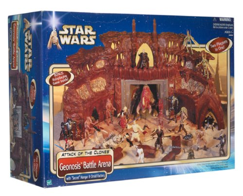 Star Wars: Attack of the Clones Geonosis Battle Arena with Secret Hangar & Dr...