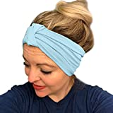 URIBAKE Women Stretch Headbands Solid Wide Hair Wrap Accessories...