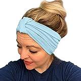 HighlifeS Women Elastic Turban Head Wrap Headband Twisted Hair Band (A)