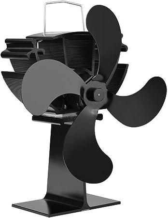 Atack-B Ventilador De Estufa De Leña, Un Ventilador De Chimenea De Cuatro Palas Que Proporciona Calor De La Leña, Calefacción Silenciosa, para Estufas De Leña Y Chimeneas: Amazon.es: Hogar
