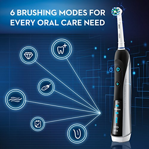 Oral-B 7000 SmartSeries Rechargeable Power Electric Toothbrush with 3 Replacement Brush Heads, Bluetooth Connectivity and Travel Case, Amazon Dash Replenishment Enabled by Oral-B (Image #4)