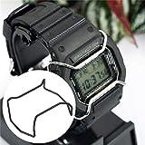 Pukido - Anillo protector de acero inoxidable para reloj G-Shock 5600, color negro