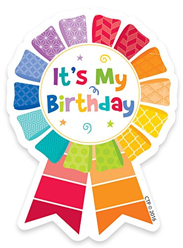 Creative Teaching Press Painted Palette Happy Birthday Badge (1066)