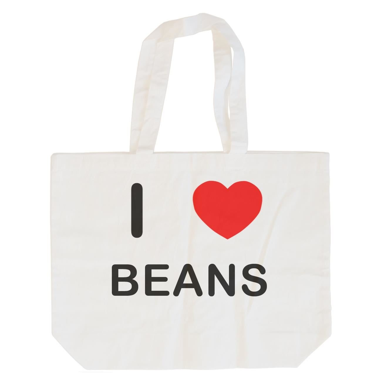 I Love Beans Cotton Maxi Shopping Bag