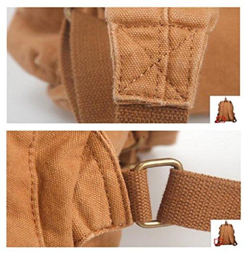 ZC&J Conveniente para los hombres y las mujeres que usan la bolsa de hombro de gran capacidad, bolso del alpinismo de la juventud, lona sólido recorrido wear-resistant que viaja el morral que viaja,A, B