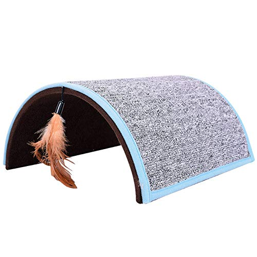 Pet Arch Bridge Creative Tunnel Feathers Cat Toy Carpet Claw Board Shelter Environmental Protection Material Durable Moisture to Give Them A Warm Place