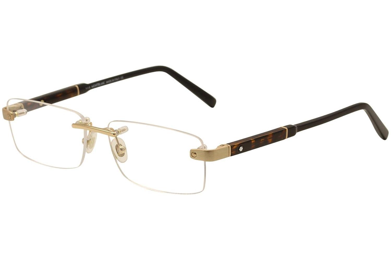 (モンブラン) Mont Blanc ゴールド 縁無し ツーポイント型 メガネフレーム 眼鏡 MB-0617-028 [並行輸入品] B01E4RSEUC