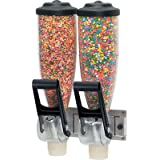 Server Products DPD-86640 Dry Food Wall-Mount Dispenser, Double, (2) 2 L Bottle Capacity, Clear/Black