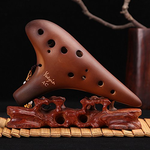 BaiLE Smoked Ocarina 12 Hole Legend of Zelda Alto C for Professional Performance and Beginner,best Gift for Antique Collectors Vintage Masterpiece Collectible
