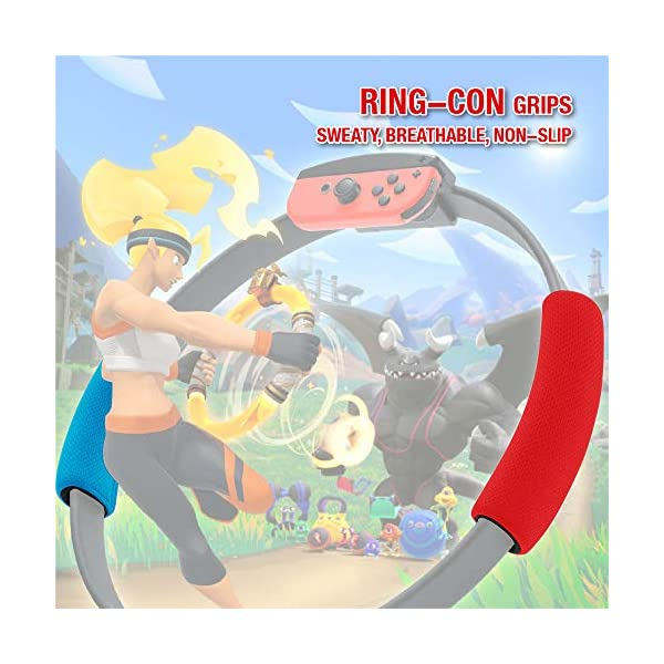 SweetCom Ring-Con Grips and Adjustable Leg Fixing Strap for Nintendo Switch Fit Adventure Game (NOT Include Ring-Con) 7