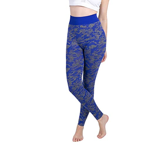 9c4ab162935fe5 Image Unavailable. Image not available for. Color: Women's Camo Seamless  Workout Leggings Tummy Control-High Waist-4 ...