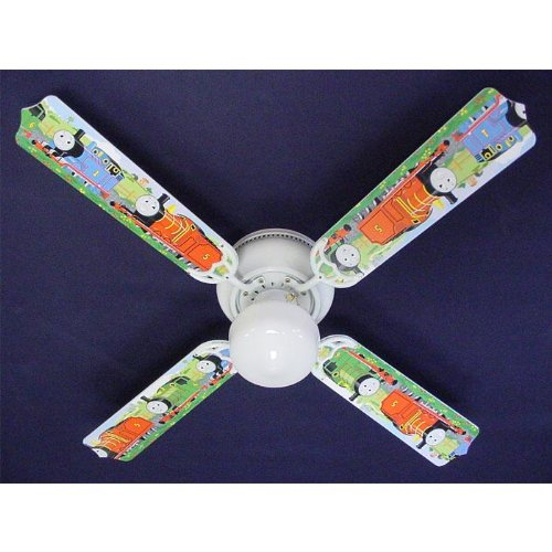 Thomas The Lamp Tank - Ceiling Fan Designers Thomas Tank Engine Train Percy Indoor Ceiling Fan