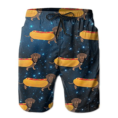 Hot Dogs Dachshund Men's Basic Boardshorts L With Pocket by OIYP