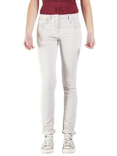 Carrera Jeans - Jogger vaqueros 752 para mujer, estilo recto, con parches, interior