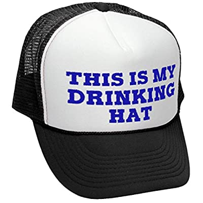 THIS IS MY DRINKING HAT - drunk party beer - Adult Trucker Cap Hat