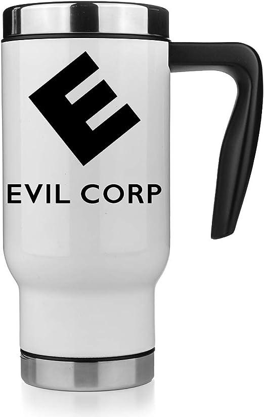 KRISSY Evil Corp Logo In Mr Robot Travel Mug Taza Térmica Vaso Termico Coffee Thermo: Amazon.es: Hogar