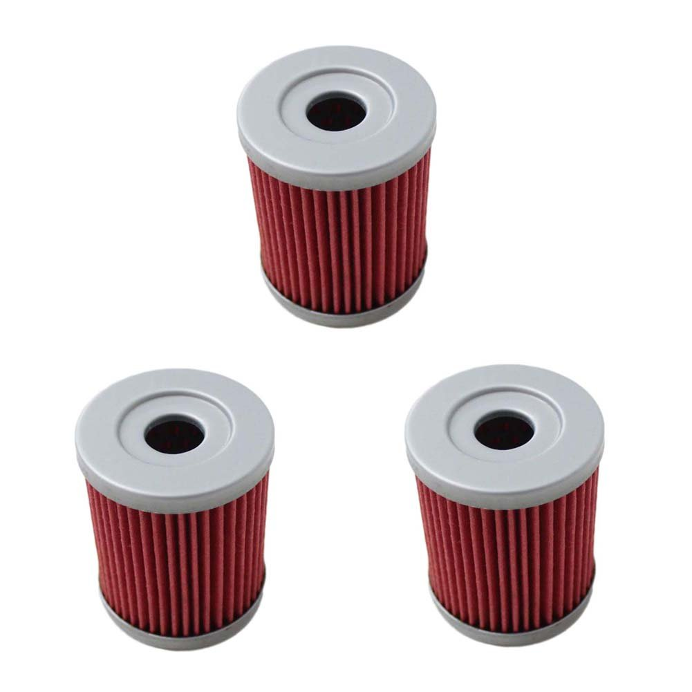 Amazon com new pack of 3 oil filter for arctic cat 250 300 yamaha yp400 cp250 yp250g suzuki rv125 an250 an400 burgman ltz250 lt250 lt250e replace hf132