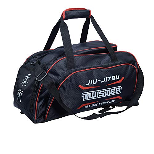 Twister New Backpack Jiu Jitsu for Gym, School (Black/red, 60x30x30)