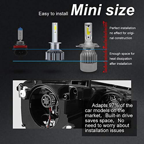 H1 LED Faros Delanteros Bombillas de Coches 10000LM 6000K- 3 años de garantía: Amazon.es: Coche y moto